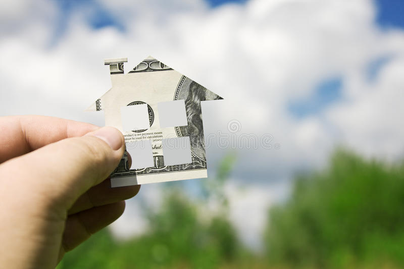 Money for a new home stock photos