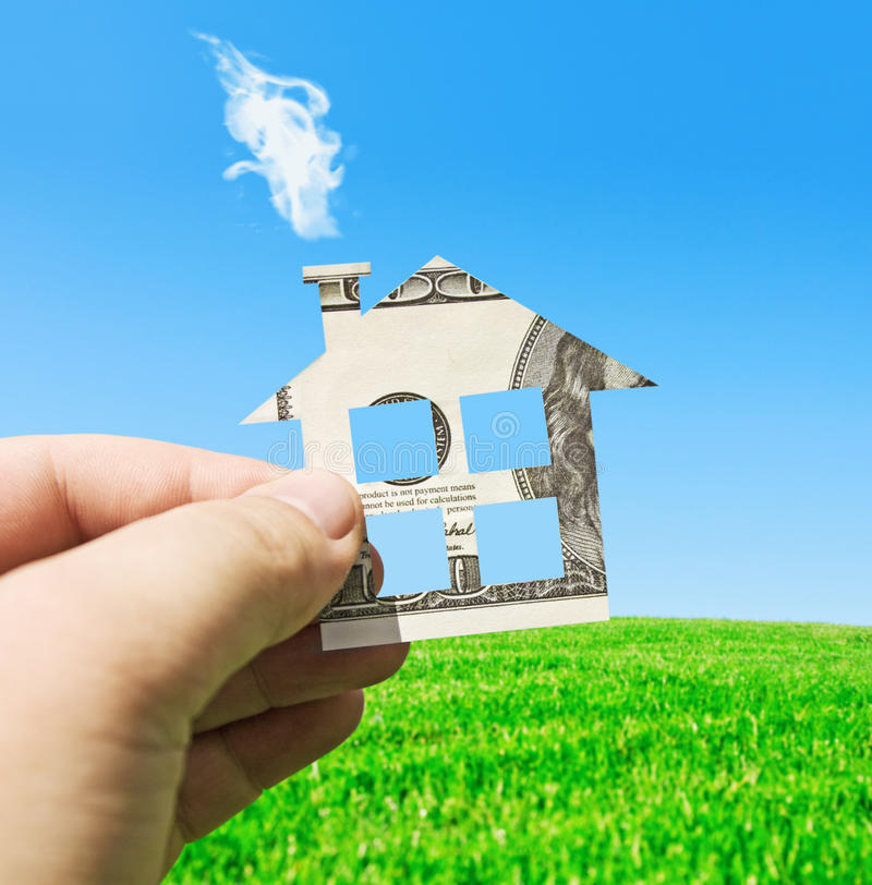 Money On A New House Stock Photography