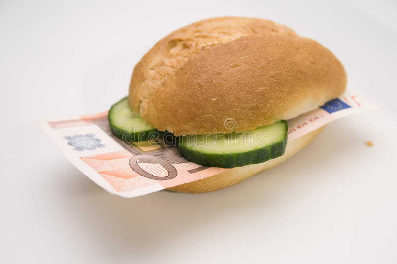 Money is not eatable royalty free stock photo