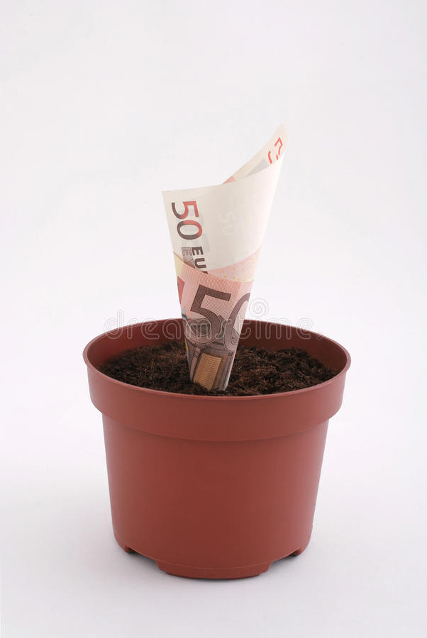 Download Money Note In The Pot Stock Image - Image: 27972351
