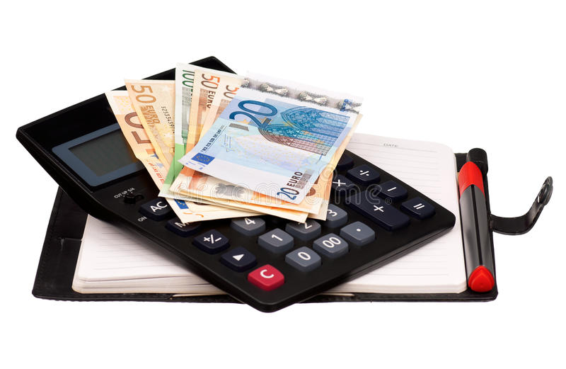 Money and notepad royalty free stock images