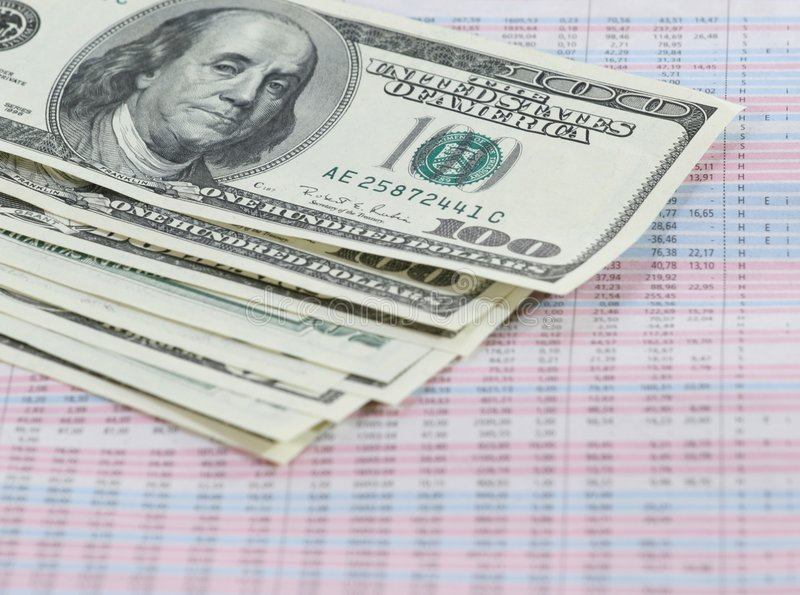 Money and numbers stock photography