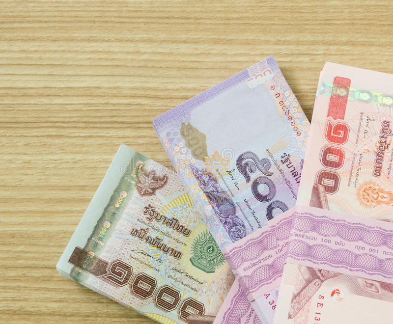 Money. One Thousand,five hundred,one hundred thai banknotes . money concept stock images