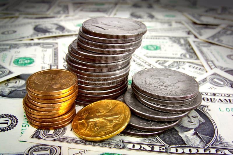 MONEY FINANCIAL PLANNING WEALTH MANAGEMENT RETIREMENT SAVING PILE stock image