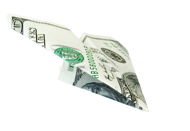 Money plane stock photo