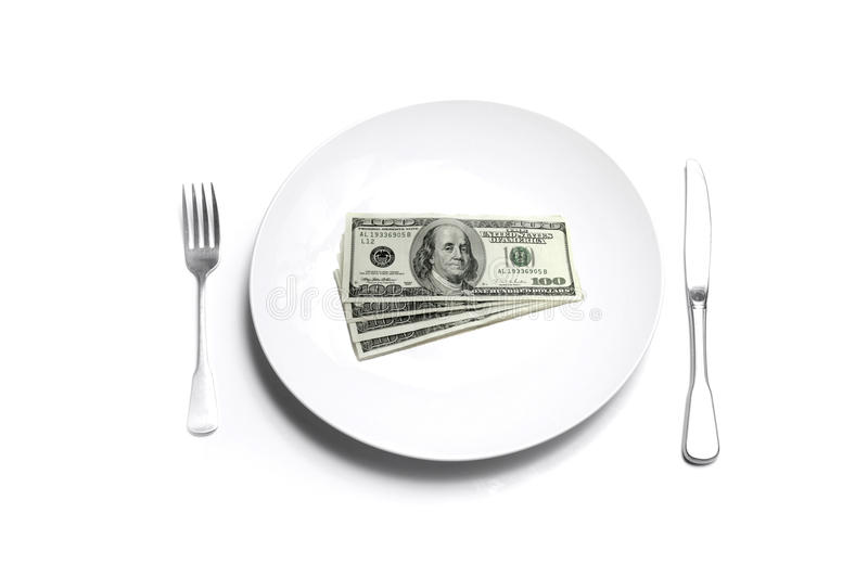 Money On A Plate Stock Images