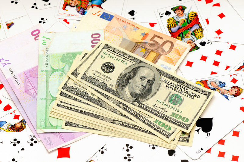 Download Money and playing cards stock image. Image of dollars - 6945241