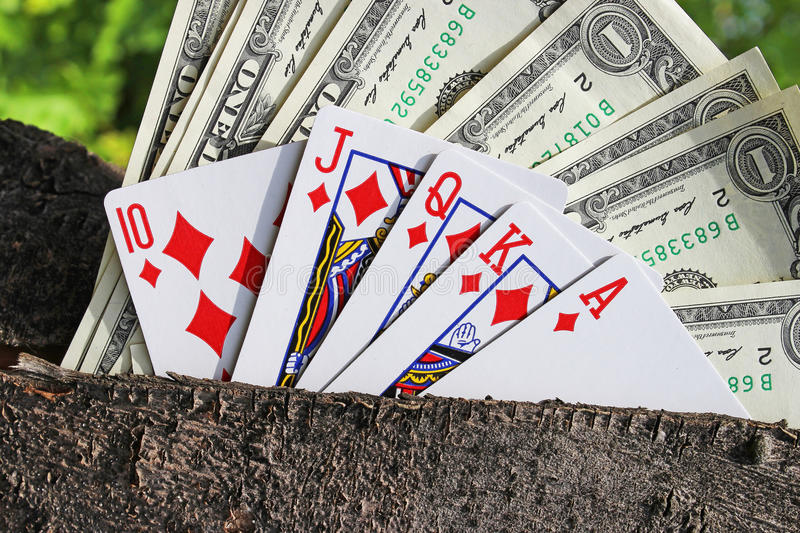 Money and playing cards