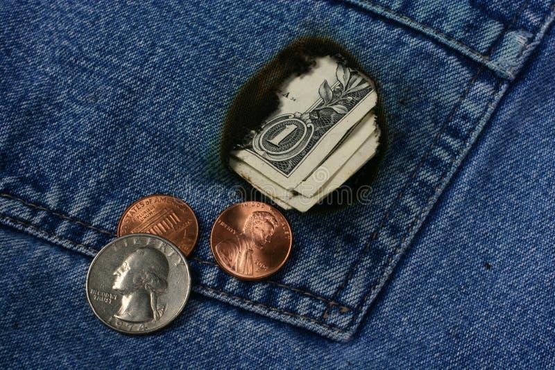 Download Money Pocket stock photo. Image of dollar, burn, jeans, blue - 18188