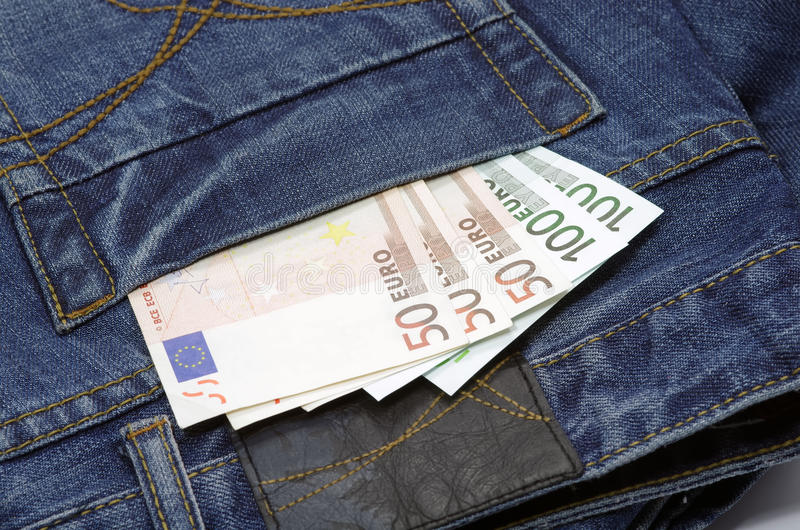 Money In Pocket Royalty Free Stock Photos