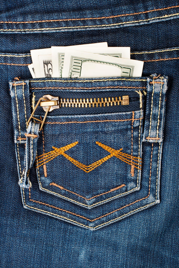 Download Money in pocket stock photo. Image of dollar, stitch - 26832256