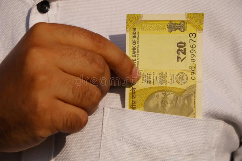Money on pocket. stock photos