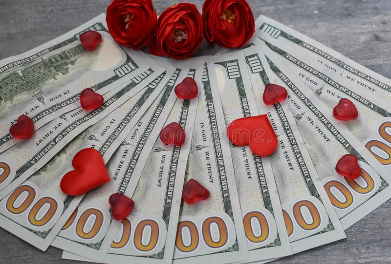 Money is power, dollars, dollar road, paper money, salary, money for spending for a woman, everyone loves money, royalty free stock image