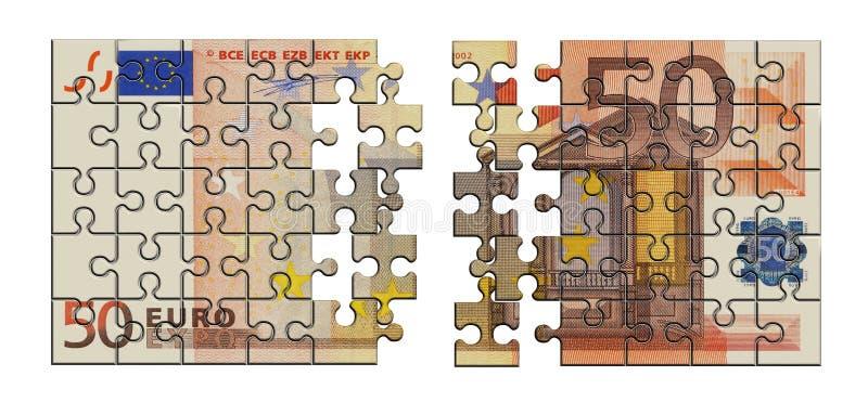Money puzzle. On white background