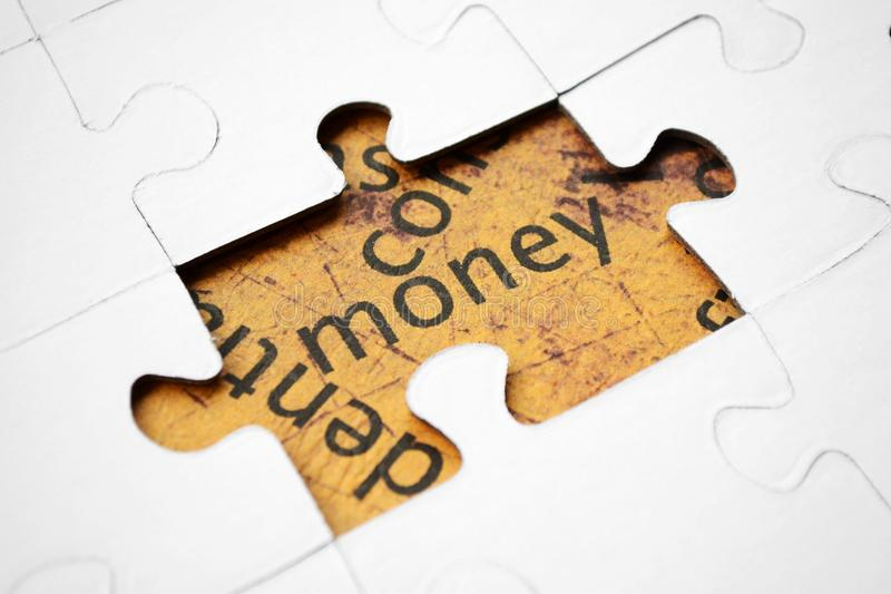 Download Money puzzle stock image. Image of salary, macro, purchase - 25155773