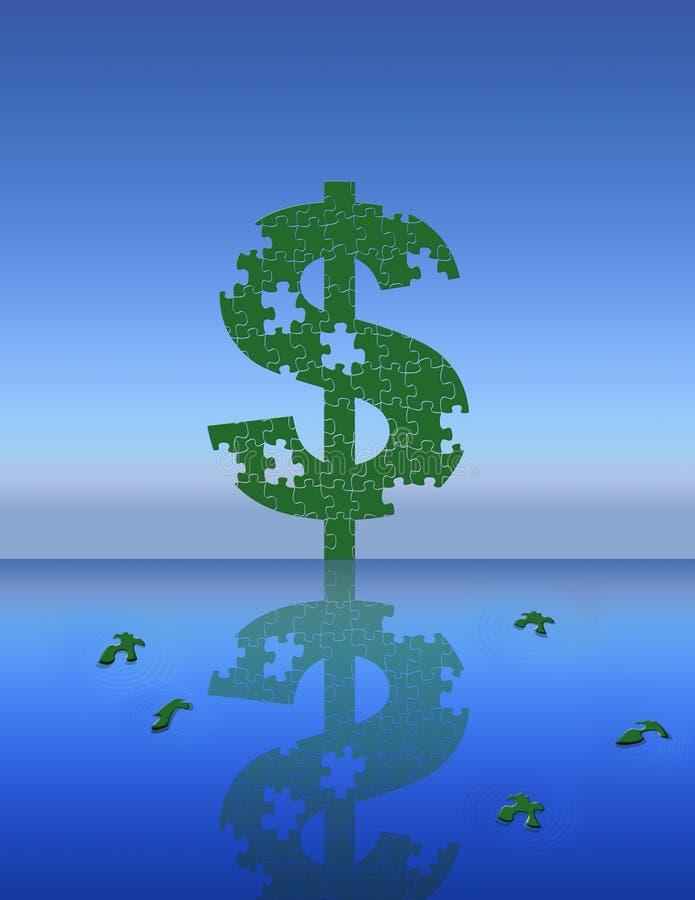 Money Puzzle stock photos