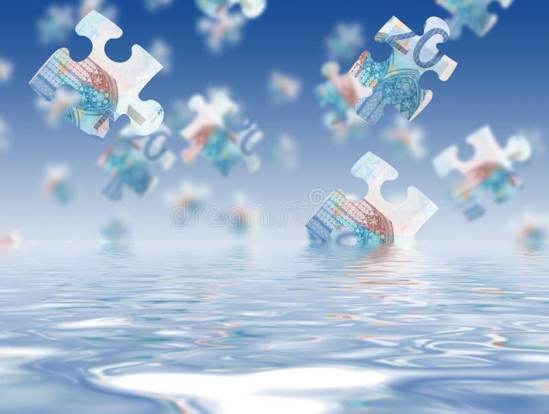 Money puzzle royalty free stock image
