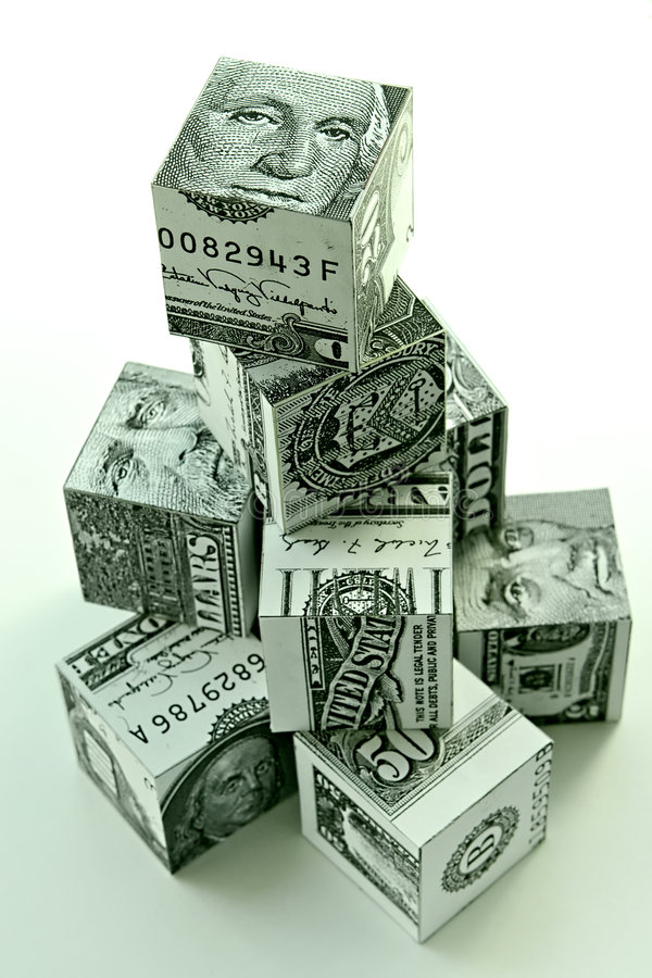Money pyramid-financial concept stock images