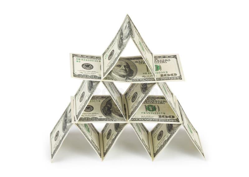 Money pyramid stock photos