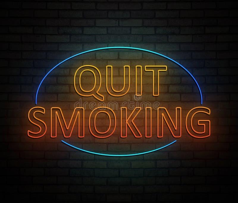money quit save smoking 向量例证