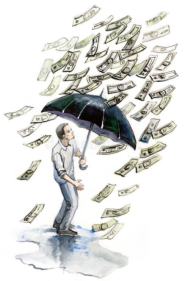 Download Money rain stock illustration. Image of isolated, investment - 13877930