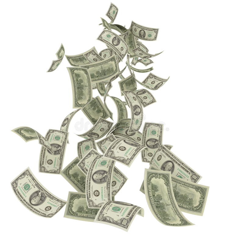 Money rain vector illustration