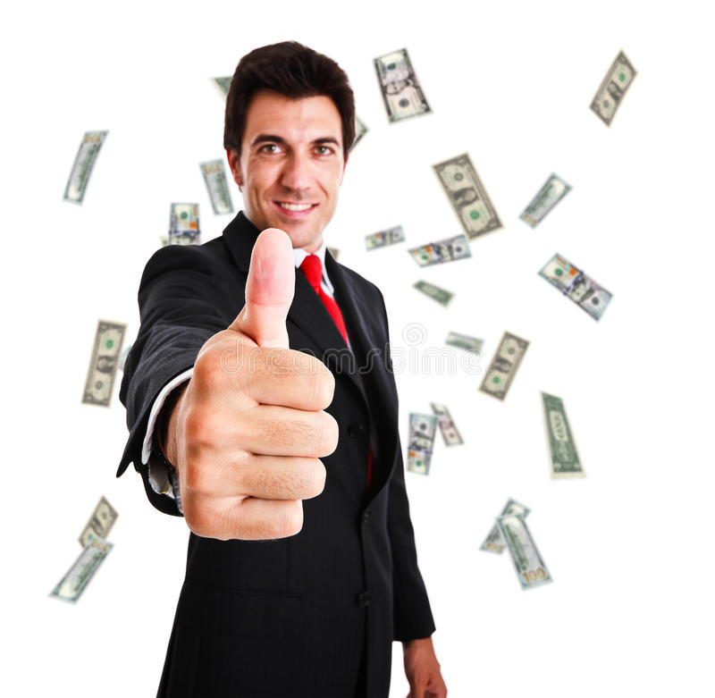 Money Rain Stock Image
