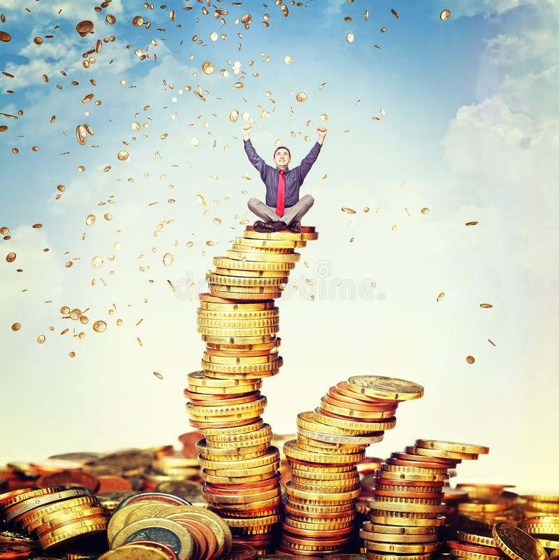Money rain royalty free stock images