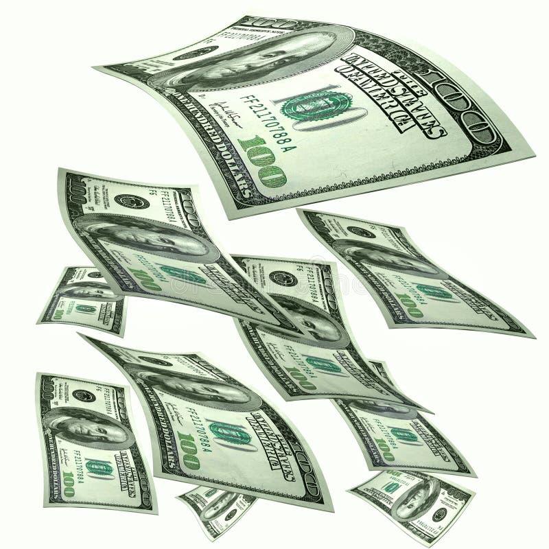 Money rains stock illustration