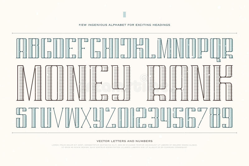 Money Rank Stock Vector Illustration Of Modern Alphabet 81707861