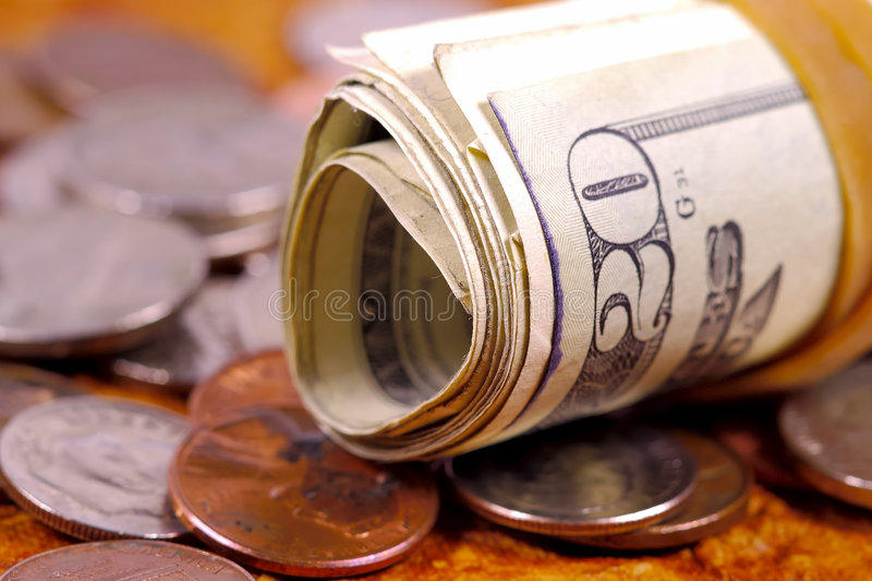 Money Roll royalty free stock images