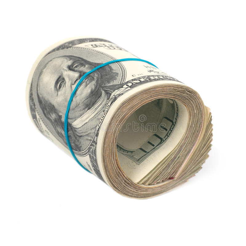 Money roll royalty free stock photo
