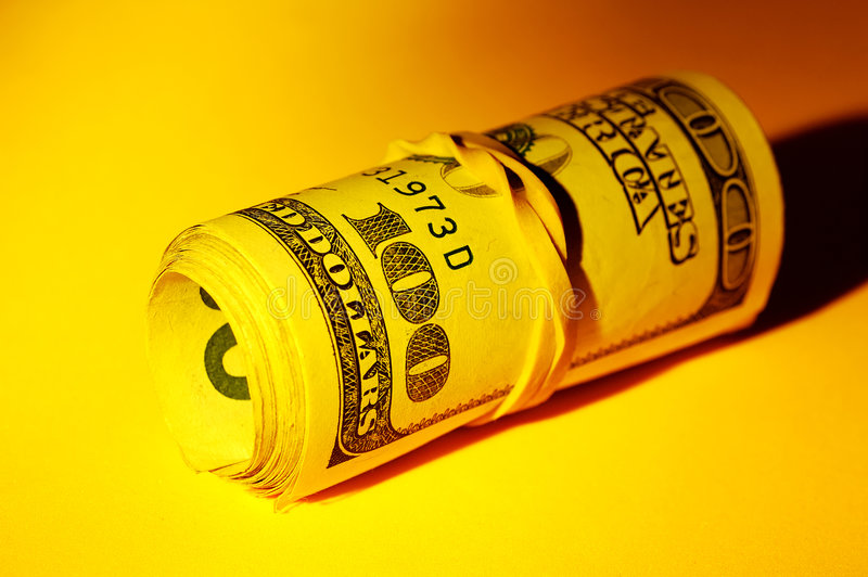 Money Roll stock photography