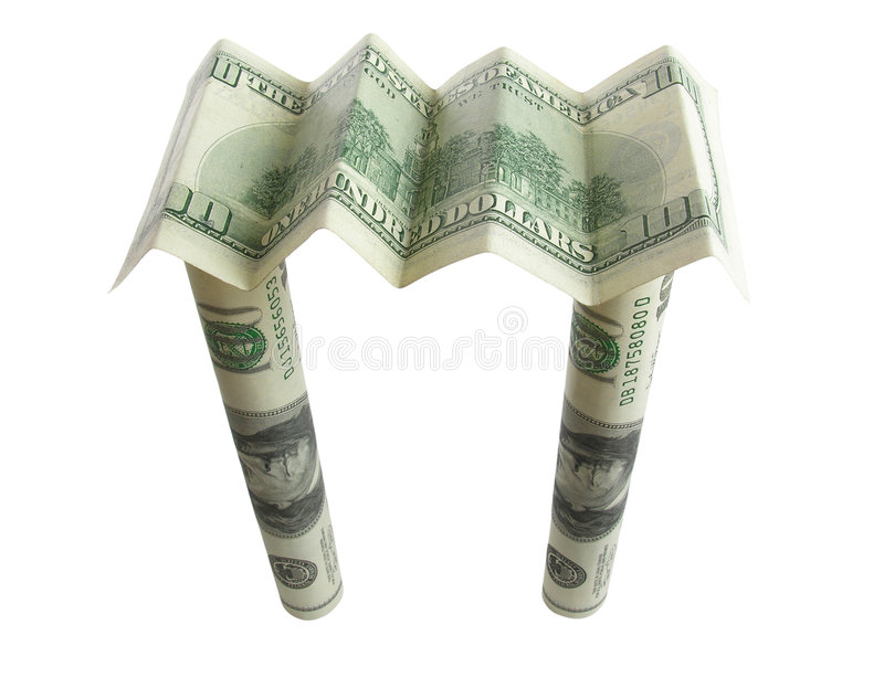 Money roof from any disaster stock photos