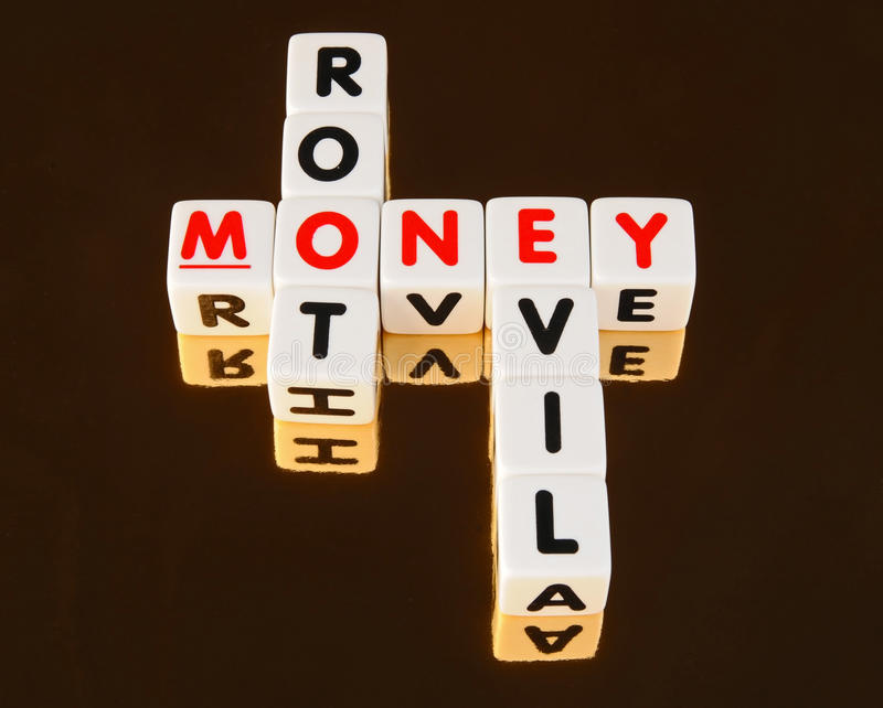 Money root of all evil royalty free stock image