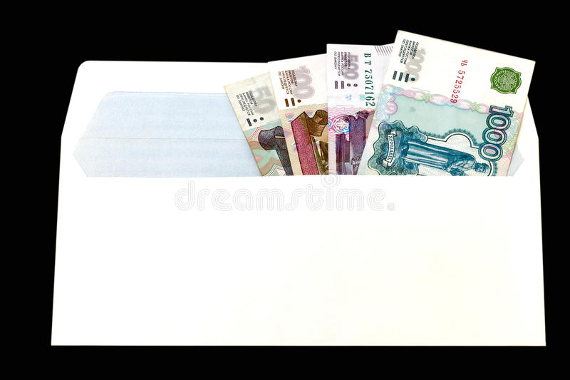 Money of Russia in paper envelop royalty free stock photos