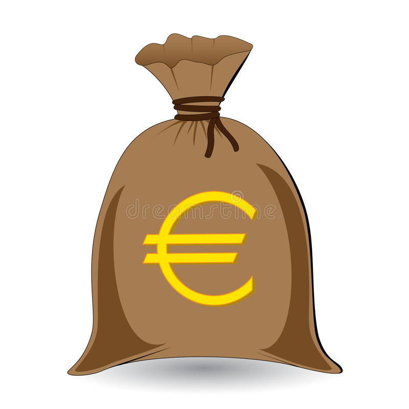 Money Sack Of Euros Stock Vector Illustration Of Gold