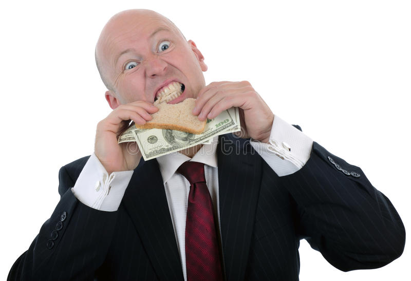 Money sandwich royalty free stock image