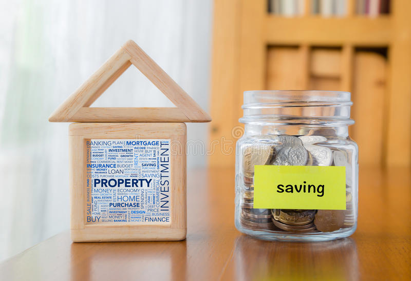 Money saving for investment property stock photos