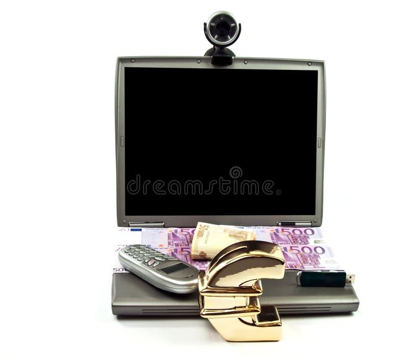Download Money Saving Using Generic Laptop And Webcam Stock Illustration - Image: 12510986