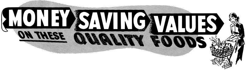 Money Saving Values royalty free illustration
