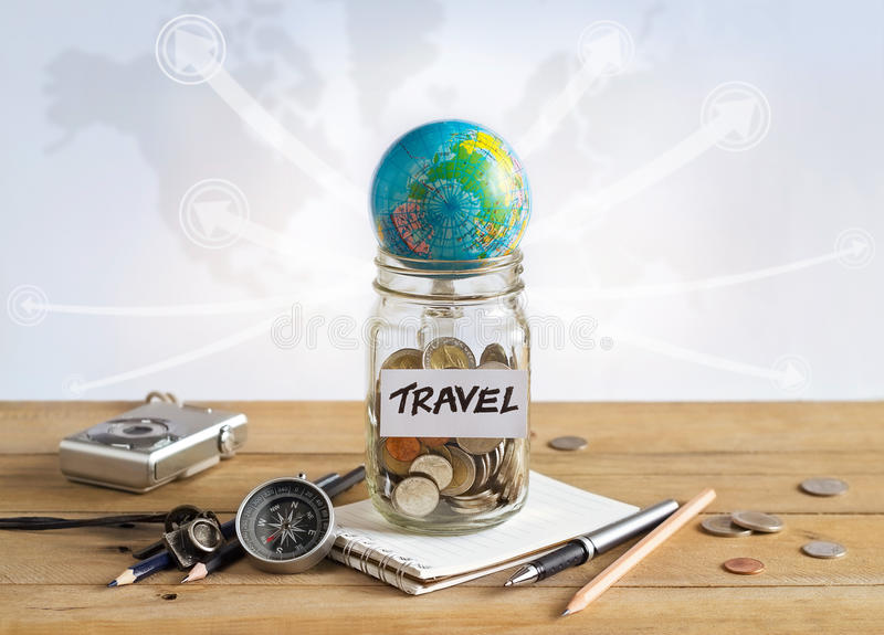 Money savings in a glass jar on world map background stock image download money savings in a glass jar on world map background stock image image of gumiabroncs Gallery