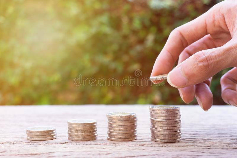 Money savings, investment, making money for future, financial wealth management concept stock photos