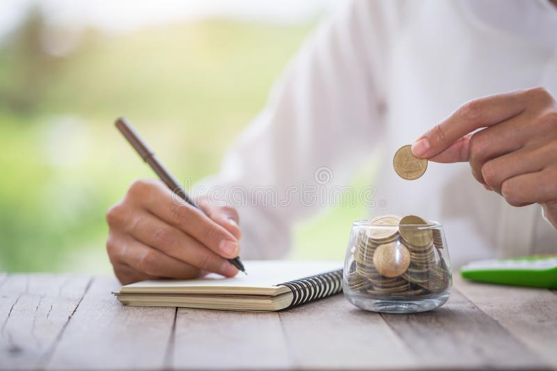 Money savings, investment, making money for future, financial wealth management concept.  stock photography