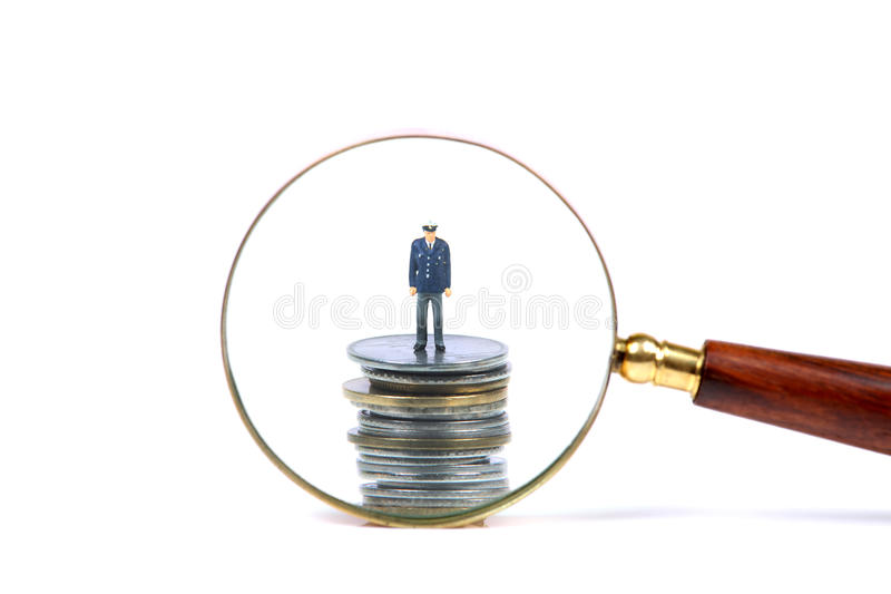 Money search. Beautiful concept shot showing money search stock images