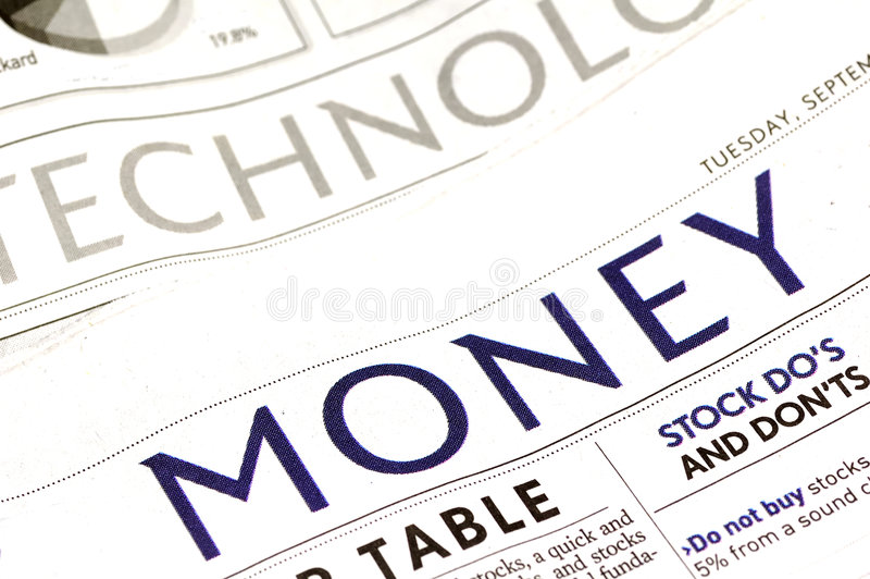 Money Section royalty free stock photo