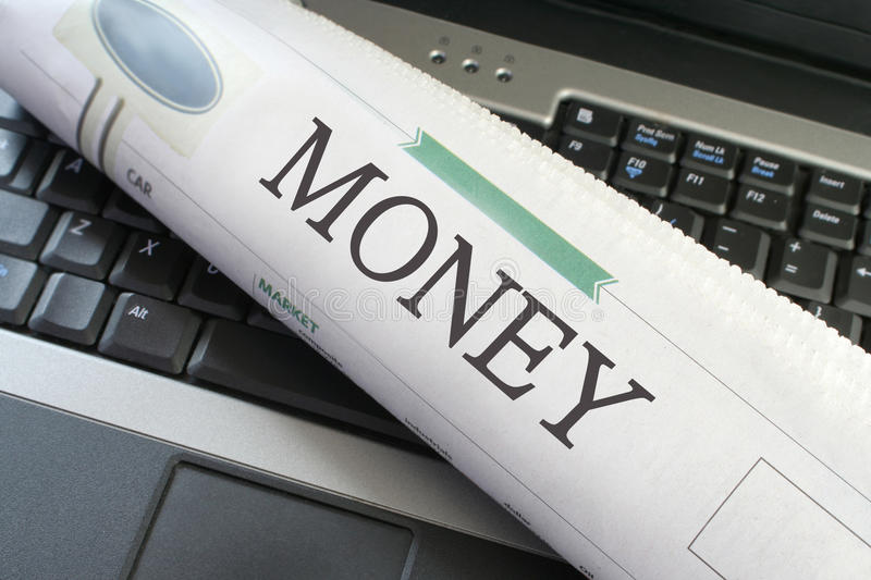 Money section of Newspaper royalty free stock photo