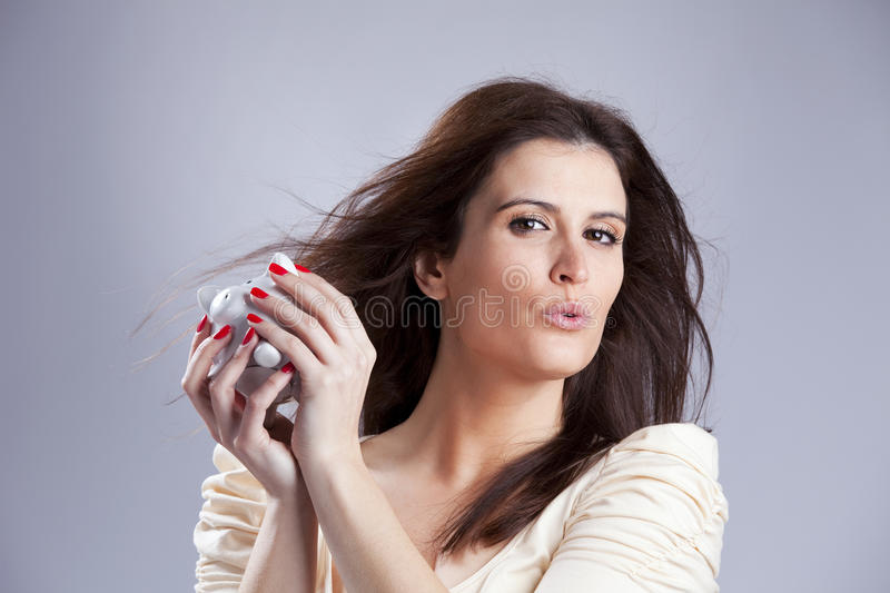 Money is. Sensual woman that loves money stock photos