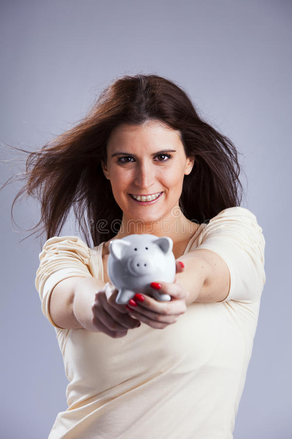 Money is. Sensual woman that loves money royalty free stock photography