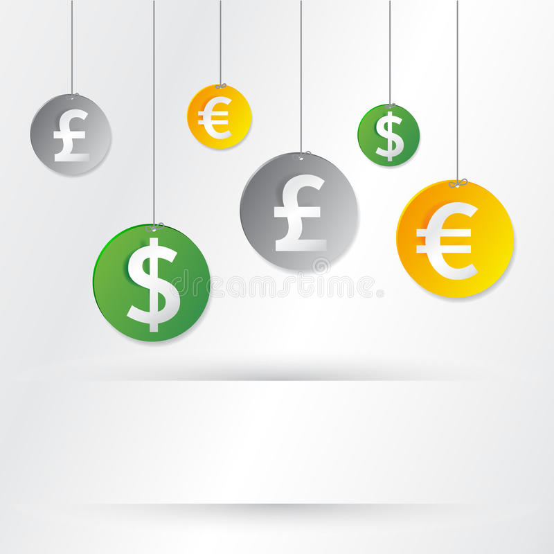 Money signs royalty free illustration